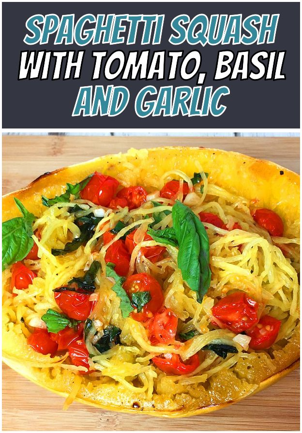 Spaghetti Squash With Tomato Basil And Garlic Easy