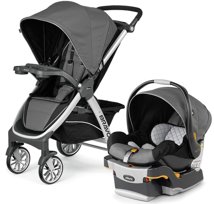 Chicco Bravo Trio Travel System 3-in-1 Baby Travel System Stroller Orion