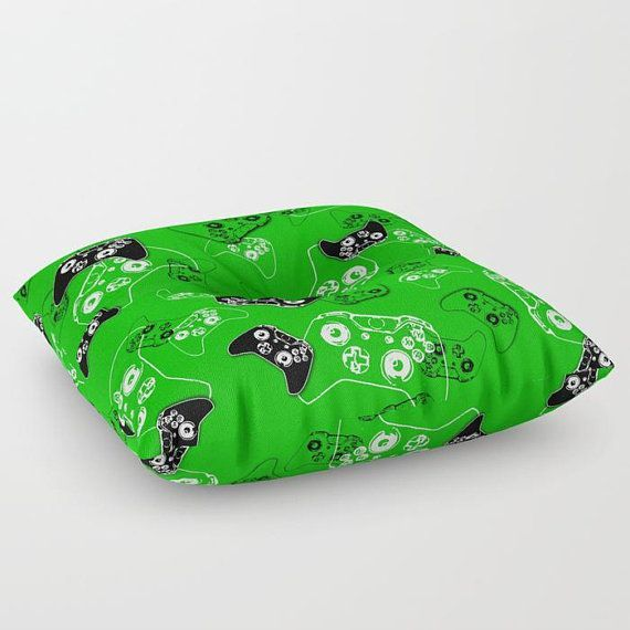 Gamer Floor Pillow, Green Floor Pouf, Floor Pillow Seating, Gamer Pillow, Video Game Pillow, Gamer Room, Man Cave, Gamer Gift, Gaming Pillow –  – #Gam…