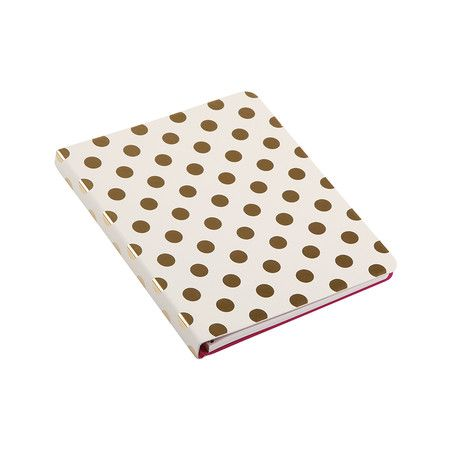 kate spade new york - Small Spiral Notebook - Gold Dots