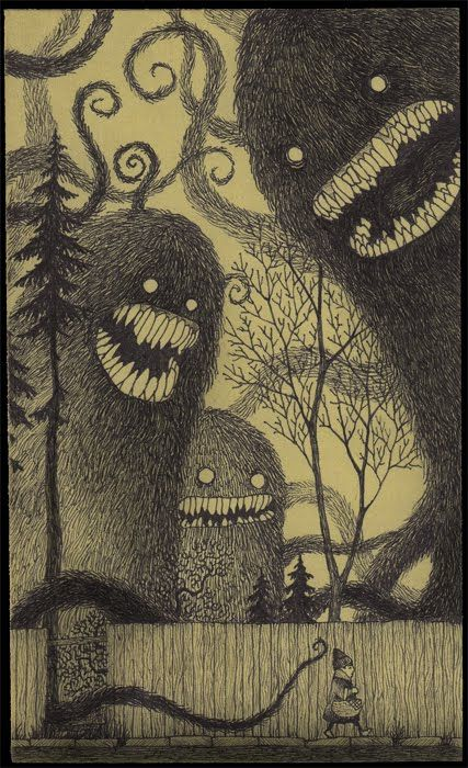 John Kenn's #monsters on Post-it notes / #drawing