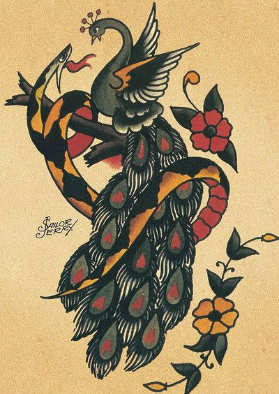 Sailor Jerry  Tattoo Flash | KYSA #ink #snake #tattoo