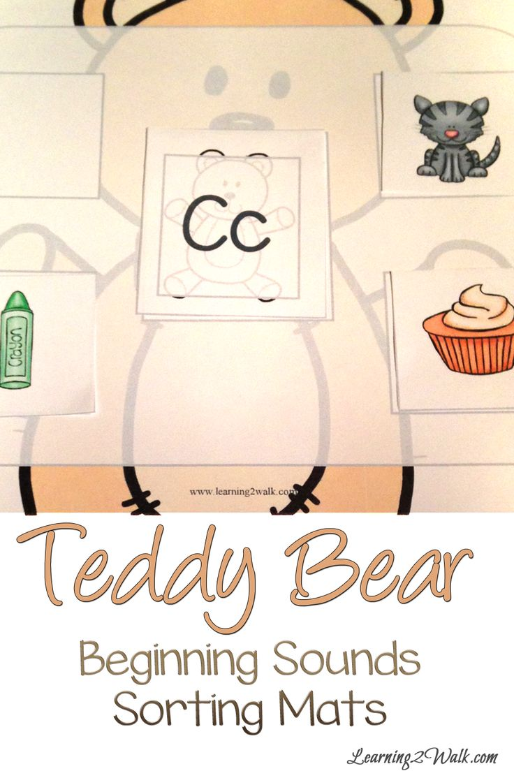 155 best beginning sound images on pinterest beginning sounds teddy bear beginning sounds activities sorting mats robcynllc Images