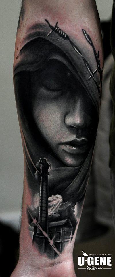 #tattoo #inked #ink #studio #wroclaw #warszawa #tatuaz #gdansk #redberry #katowice #berlin #poland #krakow #kraków #sosnowiec #poznan #opole #ugene #evgeniy #goryachiy #portrait #portret #drutkolczasty #mistyka #realistic #grey