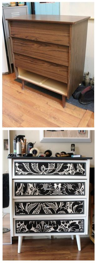 furniture makeover...I am not a huge fan of this style, but I really like this version