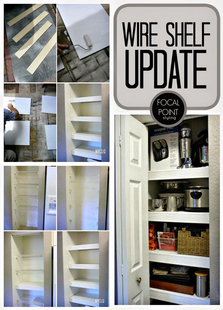 Metal Shelves Makeover Diy