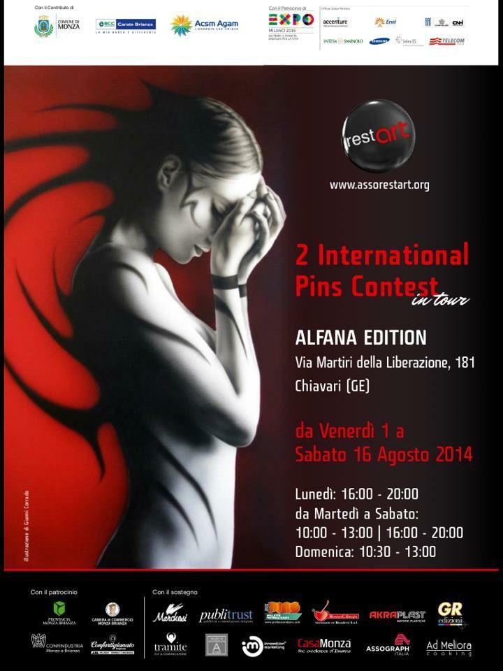 3*TAPPA  International Pins in tour 01/16 Agosto 2014- c/o Alfana Edition - Via della Liberazione, 181 Chiavari