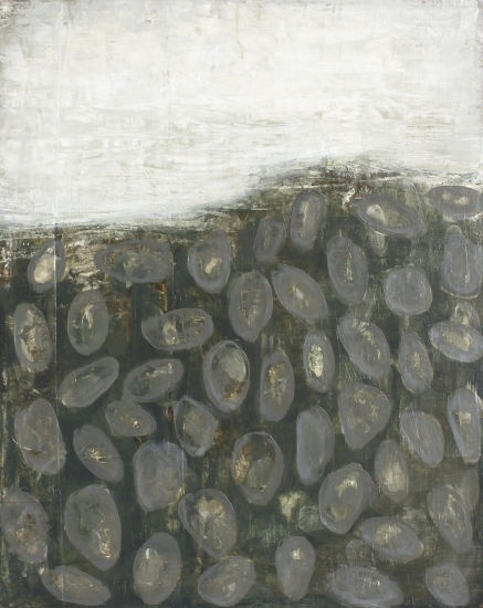 """Rivage I, Karine Léger, 2011  Acrylique sur bois– 2011  16"""" x 20 """""""