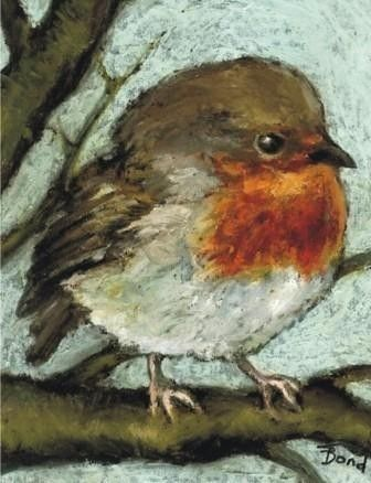 #tanya bond - the British robin.... the sweetest painting of a bird I've seen    #Animal Art multicityworldtravel.com We cover the world over Hotel and Flight Deals.We guarantee the best price