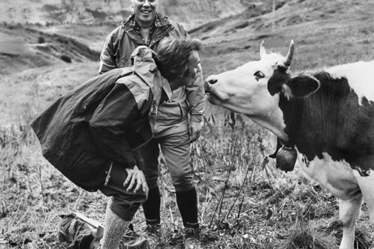 Clint Eastwood and George Kennedy on the set of The Eiger Sanction