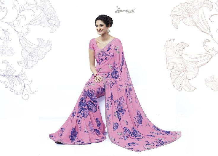 Buy this Exclusive Pink Georgette Saree with Fancy Printed Pink Blouse along with Bhagalpuri Silk Printed Lace Border online from Laxmipati.com in USA, UK, Canada,India. Shop Now! 100% genuine products guaranteed. Limited Stock! #Catalogue #SURPREET  Price - Rs. 1331.00 #Sarees #ReadyToWear #OccasionWear #Ethnicwear #FestivalSarees #Fashion #Fashionista #Couture #LaxmipatiSaree #Autumn #Winter #Women #Her #She #Mystery #L