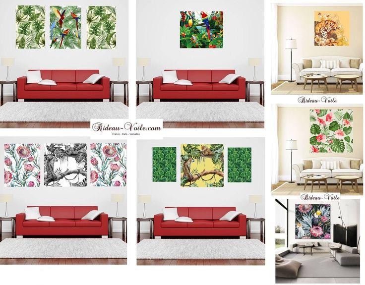 Votre décoration murale aux senteurs exotiques, une oeuvre d'art sur mesure en exclusivité motifs tropicals: Art de style Tropical par Rideau-voile