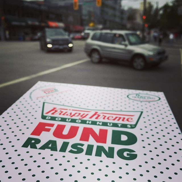 Fundraising tip: Is your closest Krispy Kreme shop a little far away? Distance fundraisers do very well because your local community doesn't have the every day option to go to a shop and get their favorite doughnuts. Make the trip. Raise some dough.