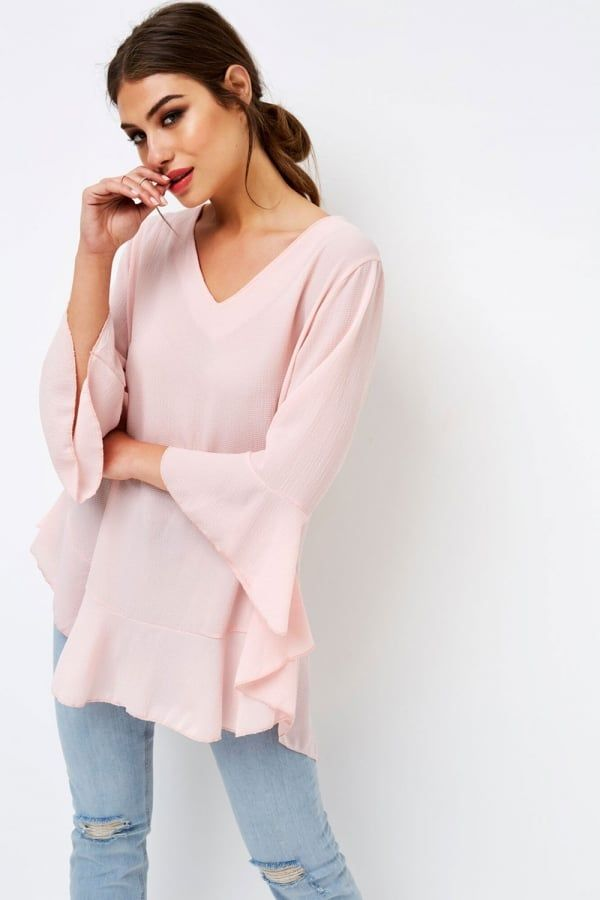Pink Frill Top