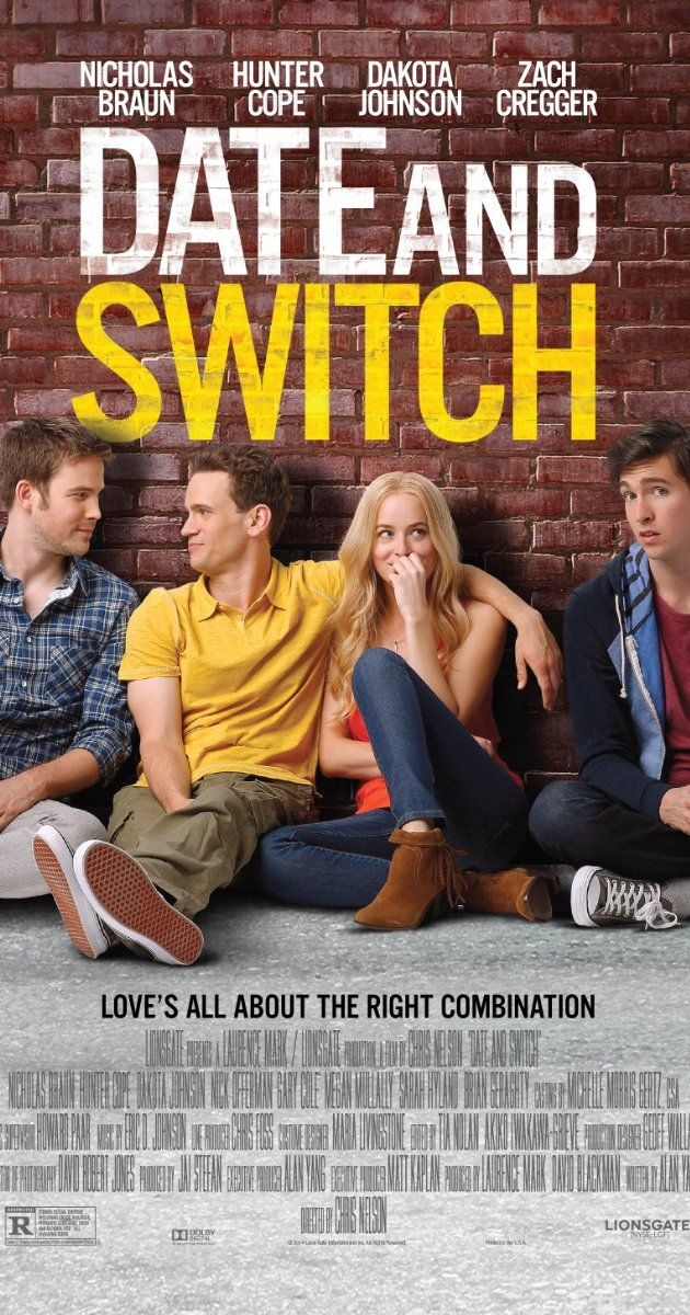 Date and Switch (2014) Click on the link to find out more information about this DVD, and to find ratings, trailers, pictures, and more! #Movies #Library #NewReleases