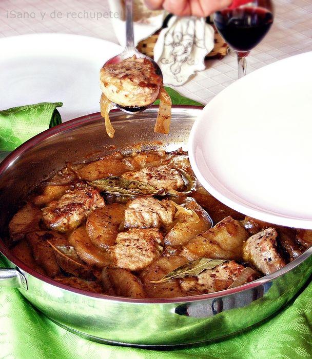 Estofado de solomillo de cerdo con manzana - Laube Leal