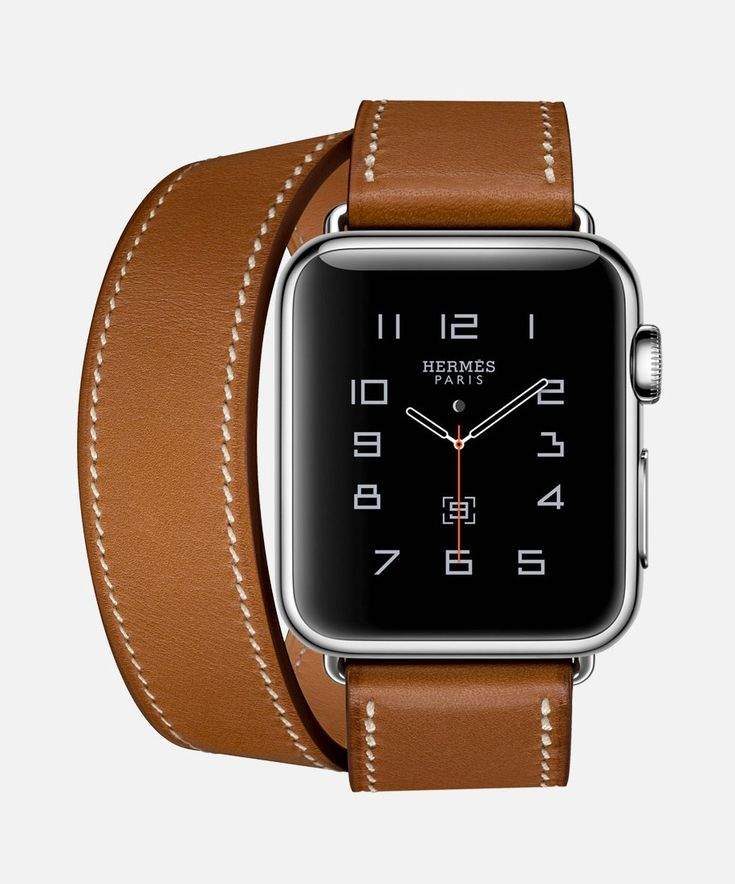 Watch Hermès featuring stainless steel case with Double Tour band in bleu  jean Swift calf leather.