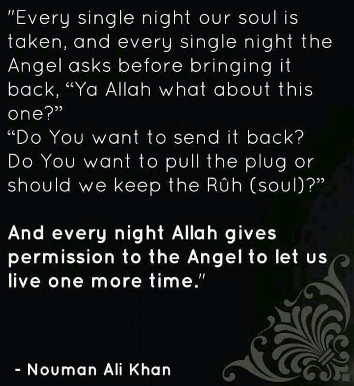SubhanAllah! its by His mercy and His will that we are gifted another chance to straighten our lives!