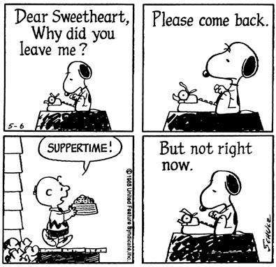 Hahahah!! Snoopy.. *From the Charles M. Schulz Museum