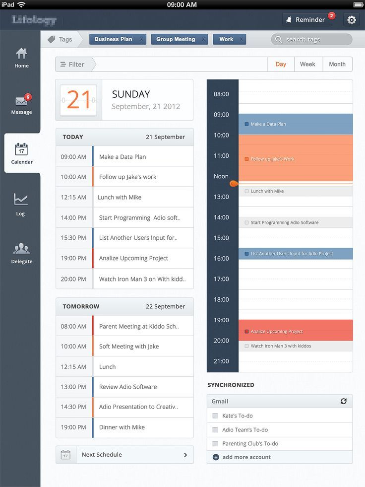 ToDo App design found on Dribbble