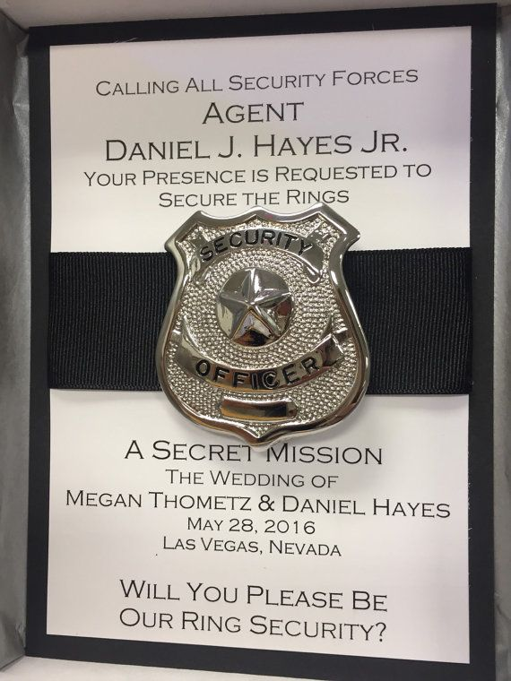 Will You Be My Ring Security / Ring Bearer by NicoleMEventStudio