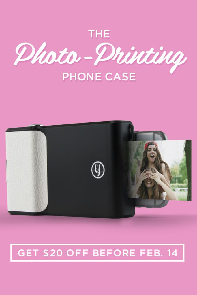 A phone case that prints photos? Yep! The Prynt Case is here, and is $20 off until Feb. 14!