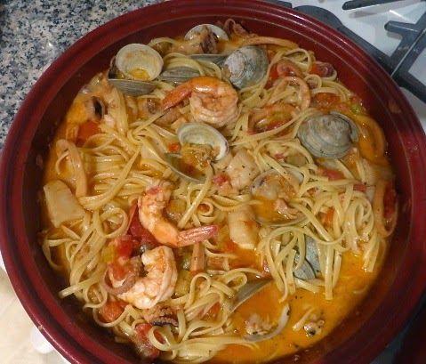 О! О! О! Кажется, это самое лучшее блюдо из пасты с морепродуктами, которое я когда-либо пробовала! К тому же я разработала рецепт сама! ...