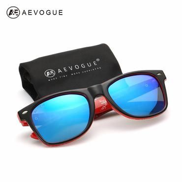 1afec13b1eb AEVOGUE Polarized Sunglasses Men Thick Acetate Frame Polaroid Lens Summer  Style Brand Design Sun Glasses CE
