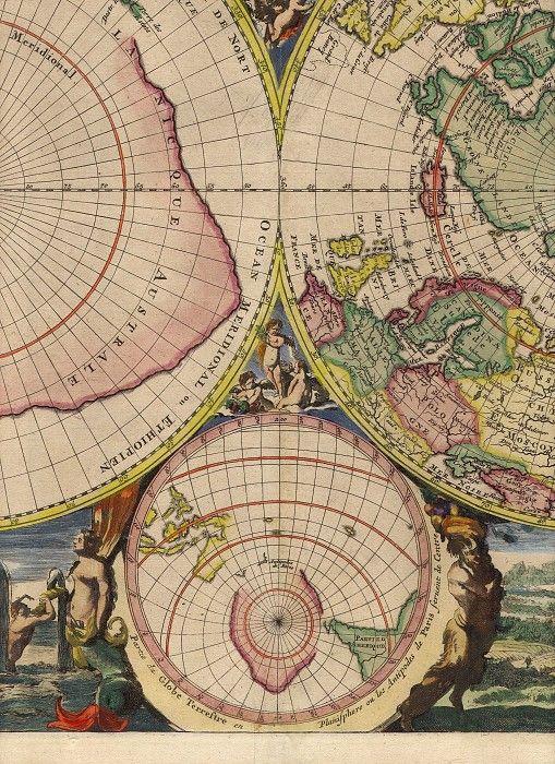 Mortier Poles 8. Древние карты мира в высоком разрешении - Старинные карты