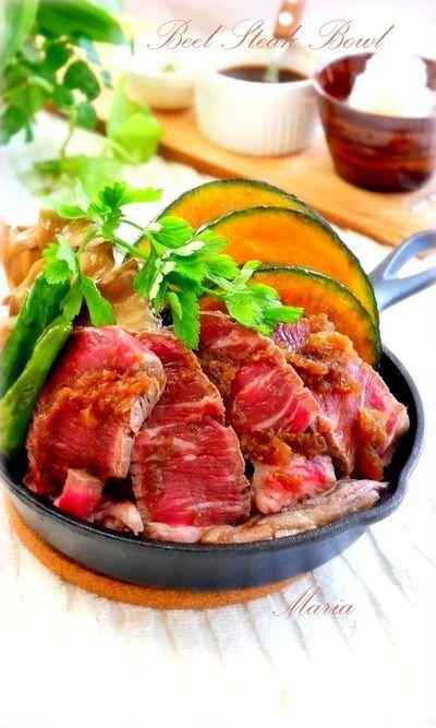 旨みじゅわ~っ★絶品ステーキ丼 by mariaさん | レシピブログ - 料理 ...
