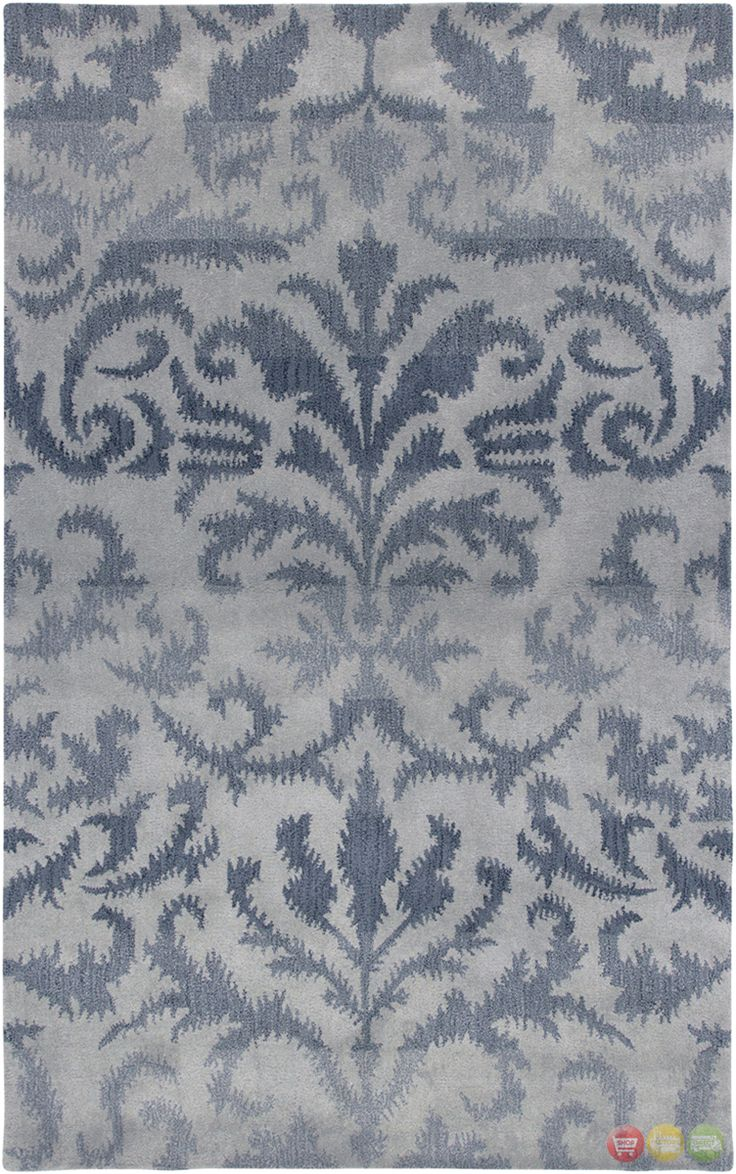 Rizzy Rugs Light Gray Transitional Hand Tufted Area Rug Volare VO2254