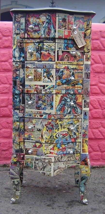 Een leuke stripboek kast