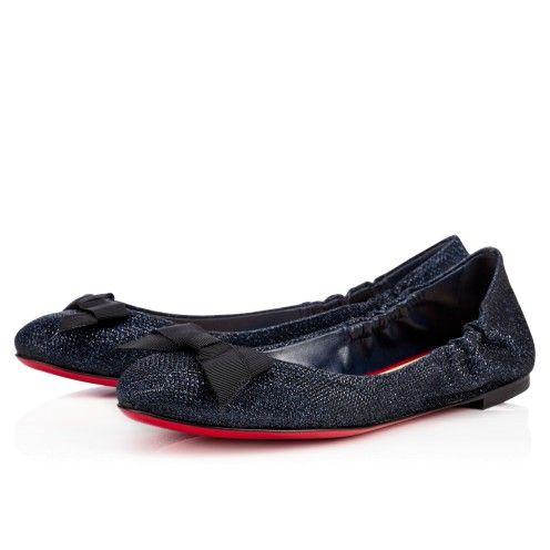 Chaussures femme - Gloriana Flat Glitter Luminor - Christian Louboutin