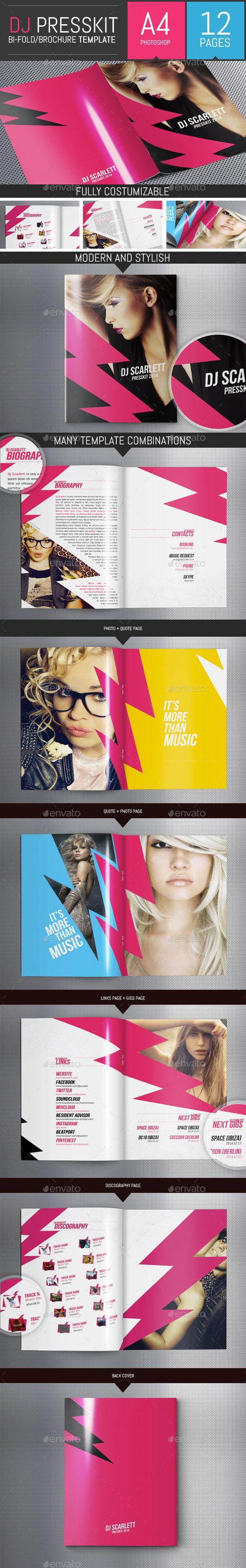 Let's Rock! - Dj / Musician Press Kit PSD Template