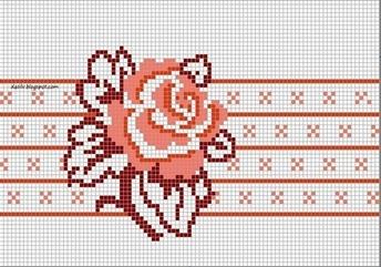 flor em ponto cruz