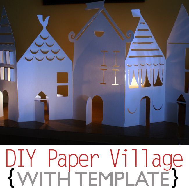 papercraft template house