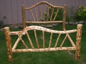 rustic bed frame twin full queen king snow bend rustic log bed frame lodge cabin