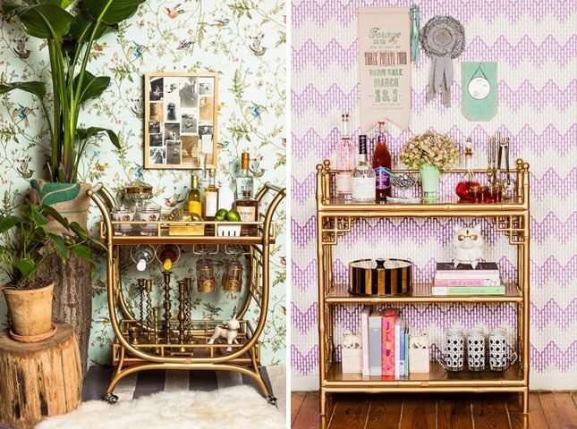 12 Ways to Create a Beautiful Bar at Home | Brit + Co.