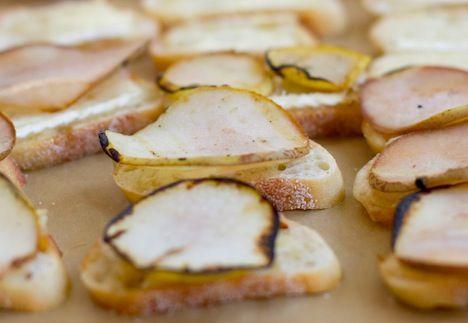 Pear & Brie Crostinis