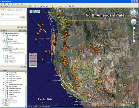 Using Google Earth in an atlas unit