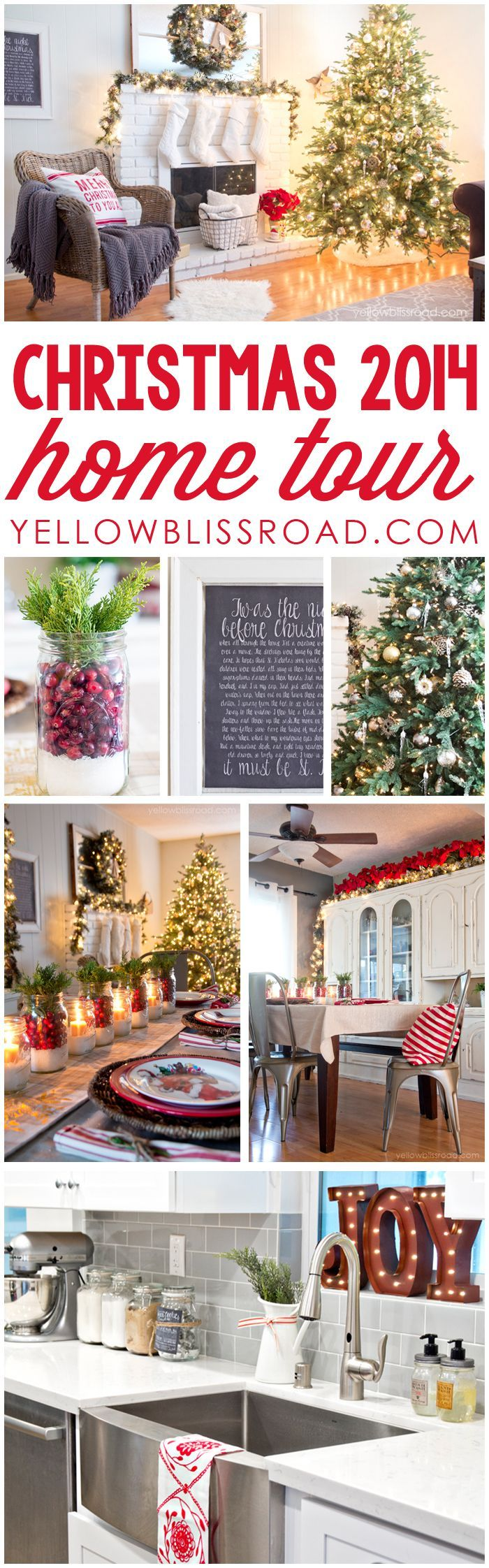 Christmas Home Tour 2014 ~ Tons of Christmas decorating inspiration and ideas!