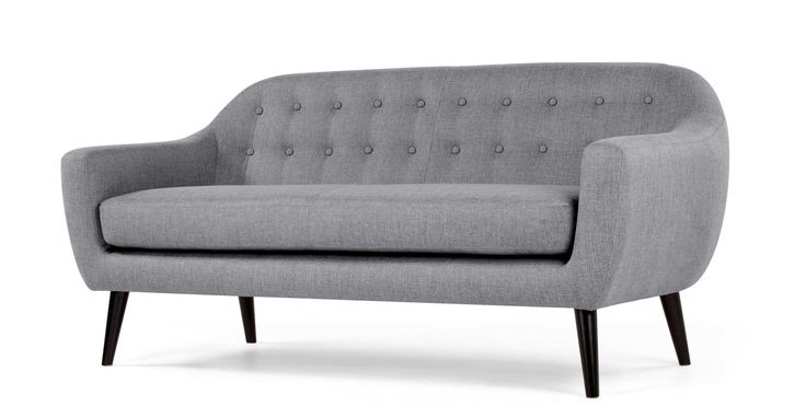 Ritchie 3 Seater Sofa, Pearl Grey