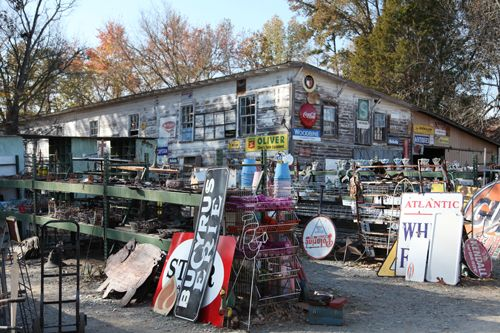 Cline's Antiques in Mt. Pleasant, NC. My favorite place to go junking. A wonderland of STUFF.