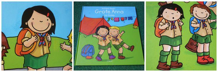 Prentenboek dat leuk als voorbereiding op zomerkamp kan dienen: Grote Anna op kamp. Anna gaat op zomerkamp met de jeugdbeweging / scouting.