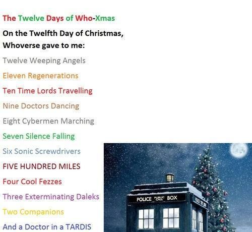 Twelve Days Of Christmas Doctor Who Version