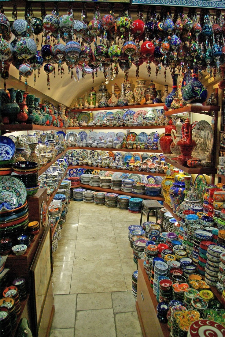 A Turkish Pazar: I will never make up my mind on what to get. Narrow it down to my favorite color? Blue? Pink? Green would be pretty nice.