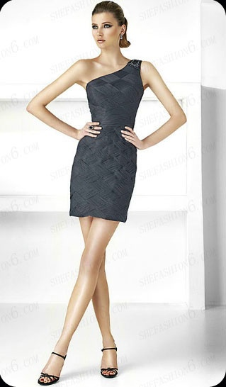 http://www.shefashion6.com  Item 2012SP0015  2012 One Shoulder Mini Satin Party Dress; Real top fabric, competitive price!!!