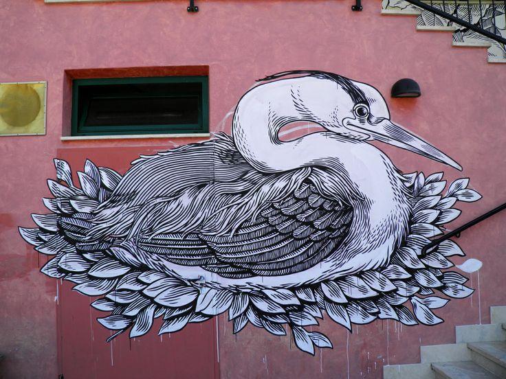 Street art in Castel di Lama, Ascoli Piceno, Italy, by Lucamaleonte. (via Dirk Schönfeld)