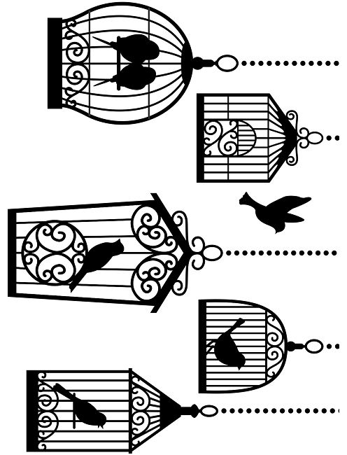 Darice Embossing Folder (Size A2) - Birdcages,$4.99