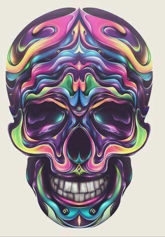 Pastels skull